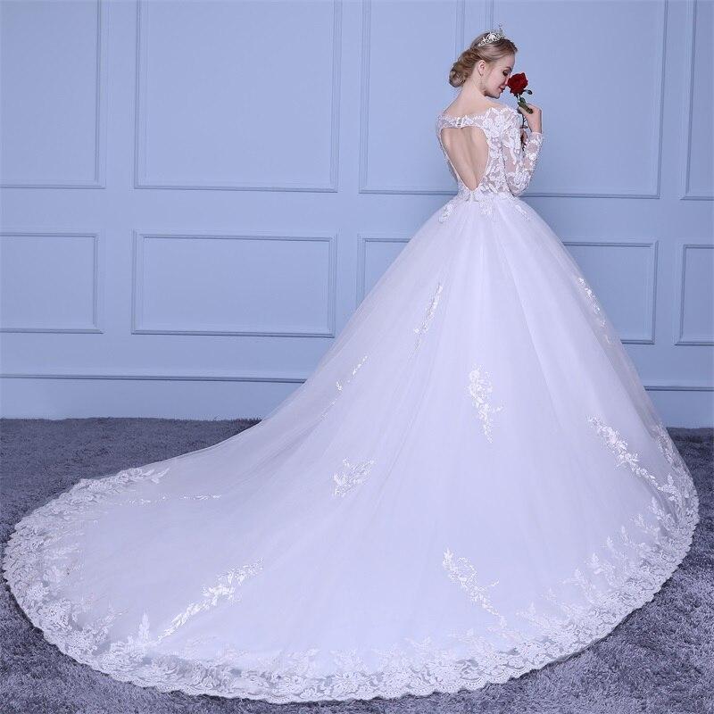 Marfoli Luxus High-end sleeved Brautkleider 2018 Mit spitze Perlen A ...