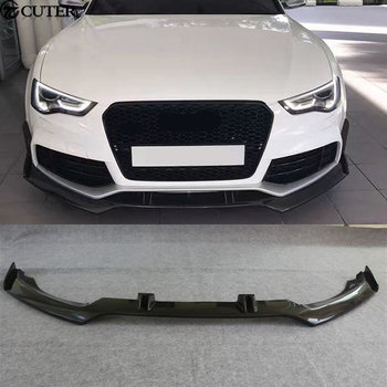 A5 RS5 Carbon Fiber Front Bumper Lip Diffuser car body kit for Audi A5 RS5 2D 4D 12-16 online shopping in pakistan with free home delivery