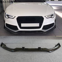 A5 RS5 Carbon Fiber Front Bumper Lip Diffuser car body kit for Audi A5 RS5 2D 4D 12 16