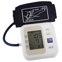 Professional Blood Pressure Monitor Upper Arm Style Electronic Blood Pressure LCD Display Systolic Diastolic Pulse Health