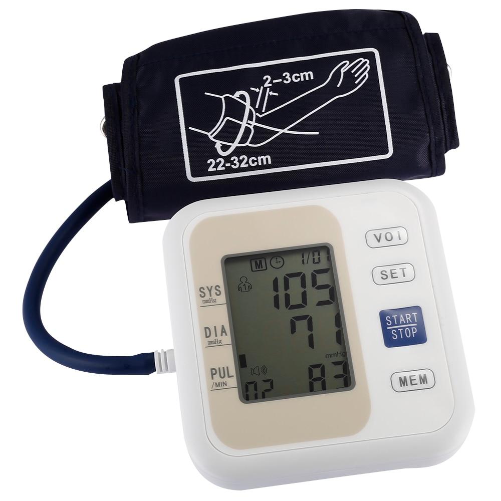 Professionnel Moniteur de Pression Artérielle Bras Style Électronique Pression Artérielle LCD Affichage Systolique Diastolique Soins de Santé D'impulsion