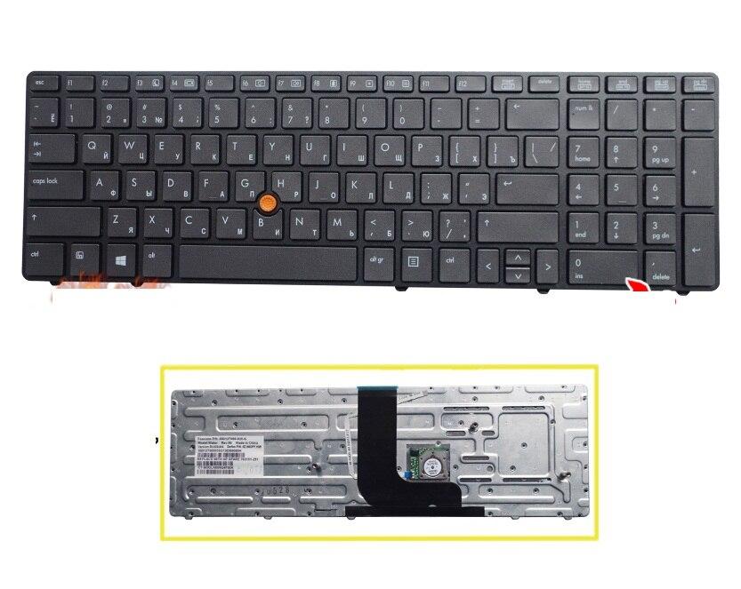 Ssea Фирменная Новинка RU Клавиатура для HP ProBook 8560 Вт 8570 Вт ноутбук Русский RU клавиатуры Бесплатная доставка