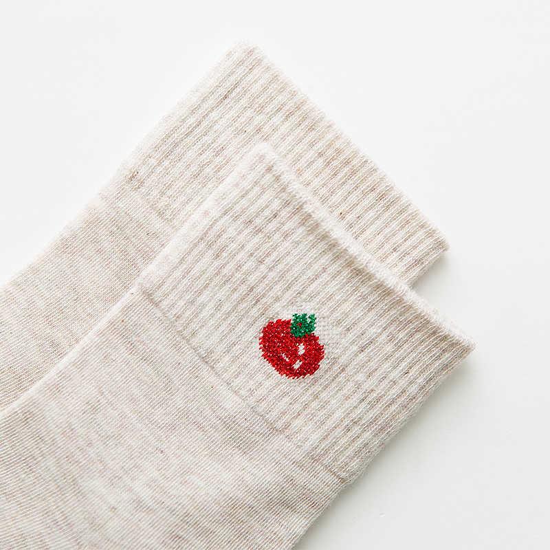 Nowych kobiet lato koreański styl środkowe rurki skarpety dziewczyny sox warzyw grzyb pomidor kukurydzy bakłażan sztuki śmieszne sokken dropship
