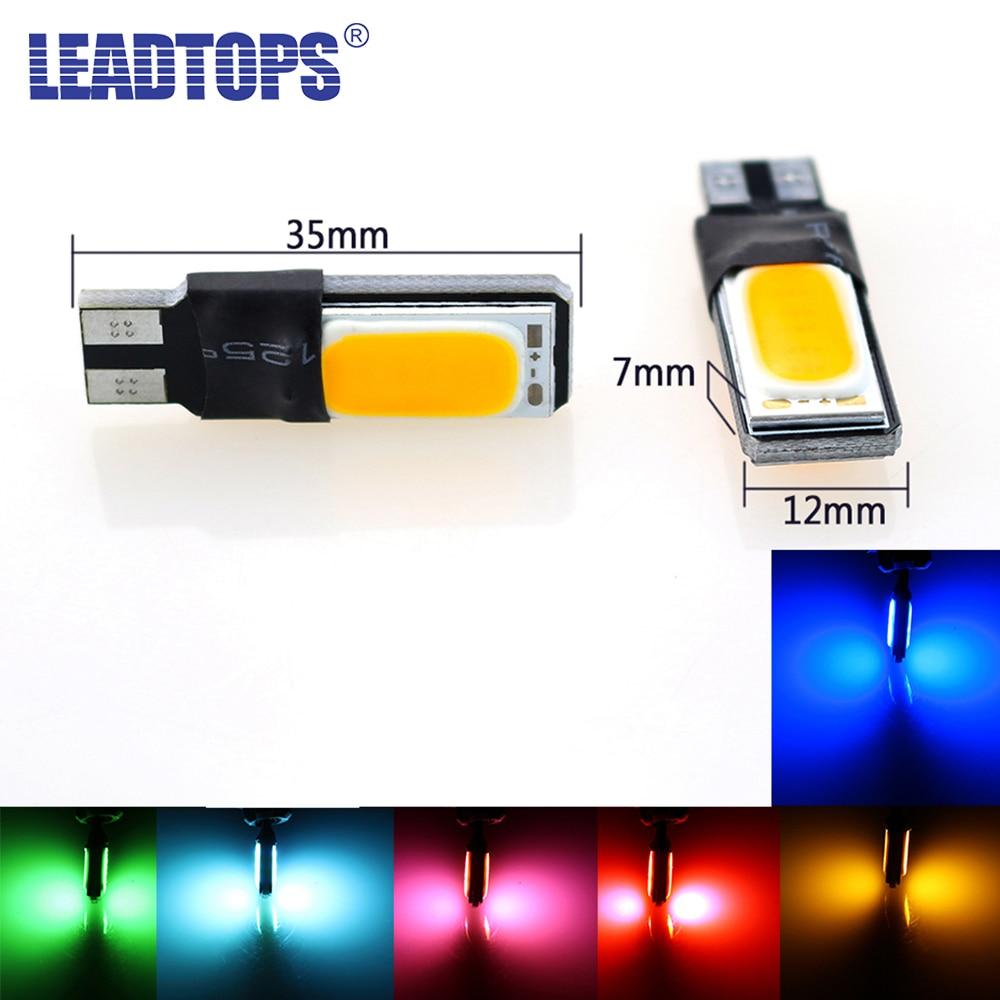 LEADTOPS 2psc/lot High Power T10 W5W Led Cob Car Led 5W5 12v t 10 White Car Clearance Light Fog Lamp Interior Light LEDs AE