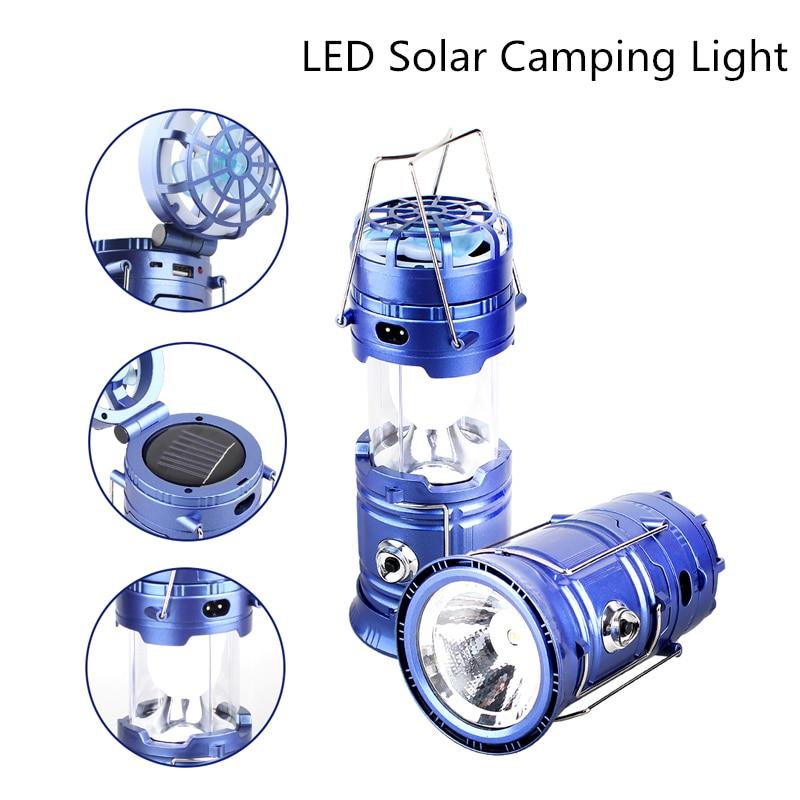 Color : Blue Mini Portable Cooling Fan Multifunction Fan Solar Camping Light LED Lamp Flashlight USB Charging Portable Outdoor Camp Travel Fan