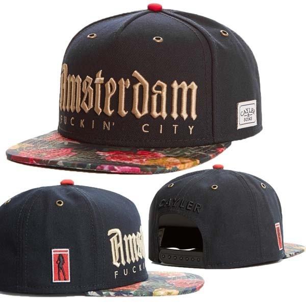 40f061826e1 Amsterdam logo baseball cap men cayler and sons floral strap snapback hats  male casual gorras hombre bones strapback beisbol