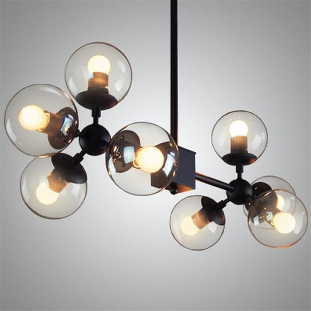 Brand new high-end designer clothing store minimalist living room bedroom LED clear glass spherical molecule chandelier lustres детский спортивный комплекс формула здоровья атлант 3с плюс синий радуга
