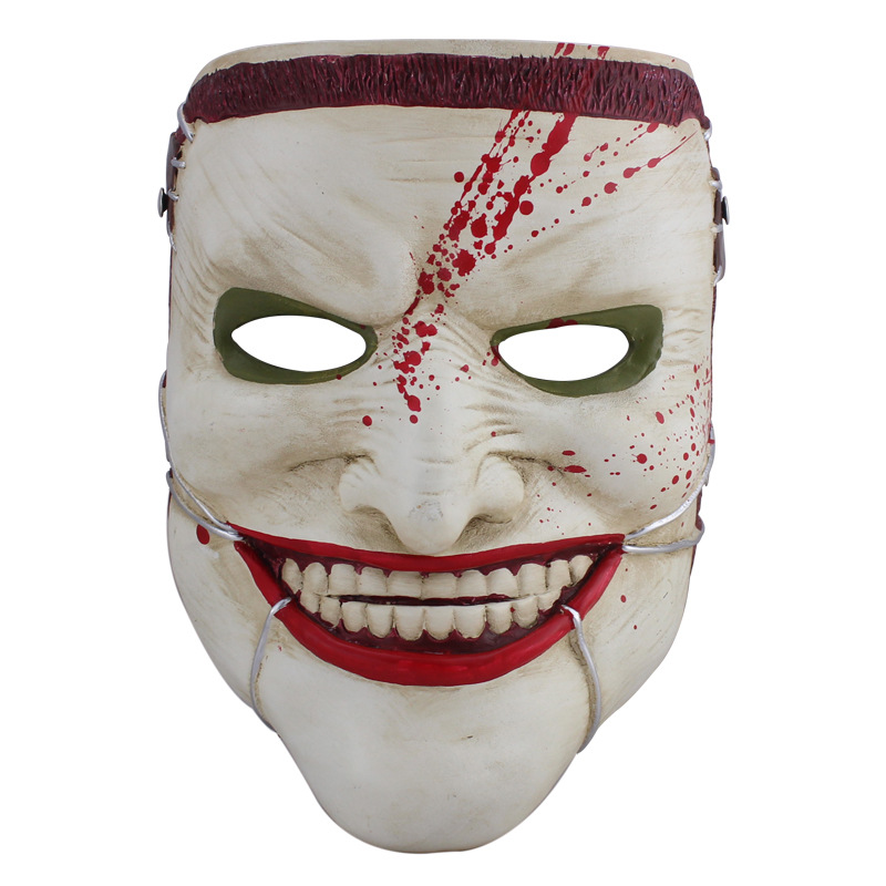 Resin Scary Mask Halloween Anime Themes Horror Mask for Costume Party Cosplay Props Family Death Masks in Party Masks from Home Garden