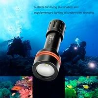 ארכון D11V צלילה LED 3 מצבי אור צילום מתחת למים 100 M 860LM פנס לפיד מנורת פנס וידאו