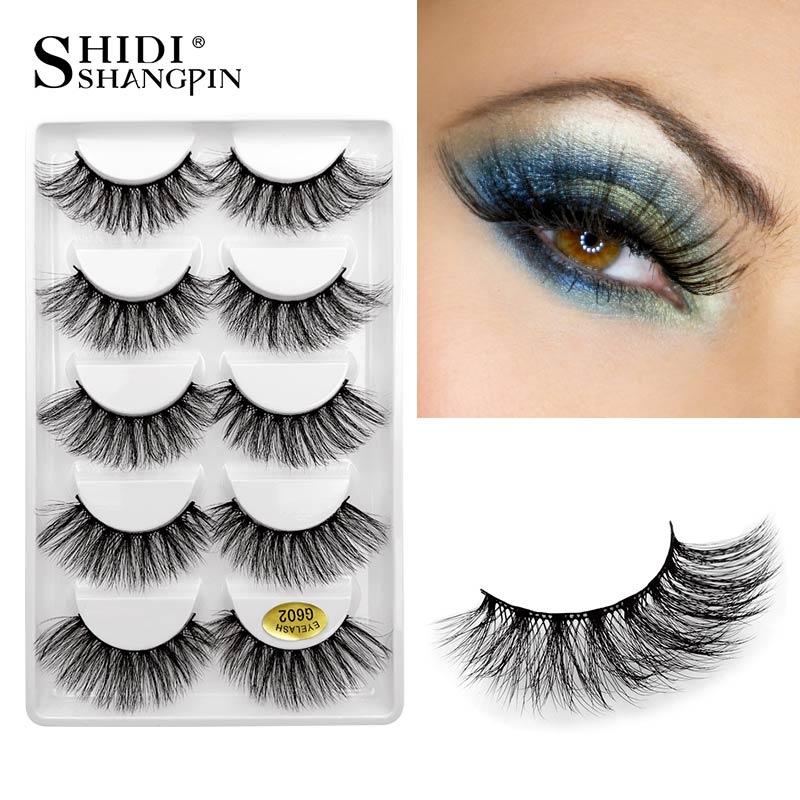 5 Pairs False Eyelashes Natural Long 3d Mink Lashes Handmade Mink Eyelashes False Eye Lash For Makeup Cilios Maquiagem Faux Cils