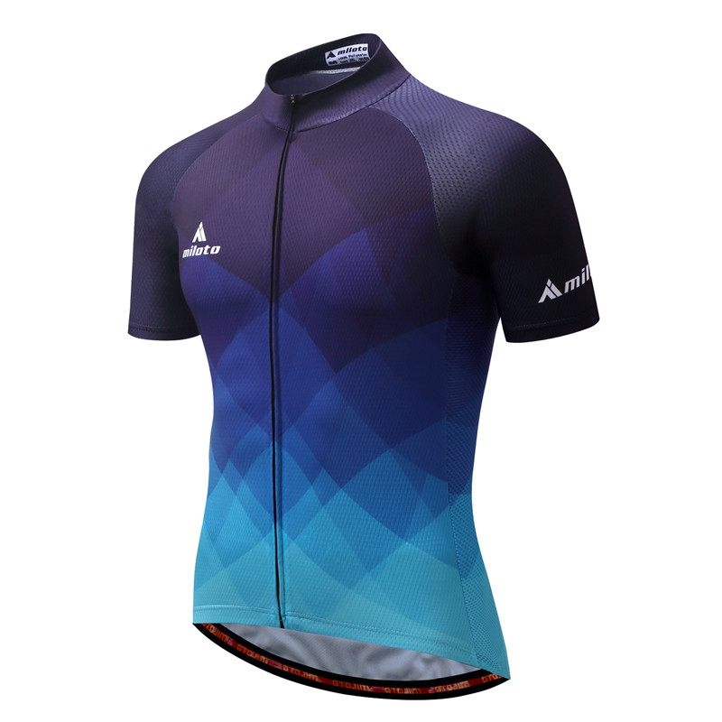 Prix pour Vélo Équipe Pro Hommes Cycling Jersey Ropa Ciclismo vtt Vélo Vélo Vêtements D'été Bike Jersey T-shirt Bleu
