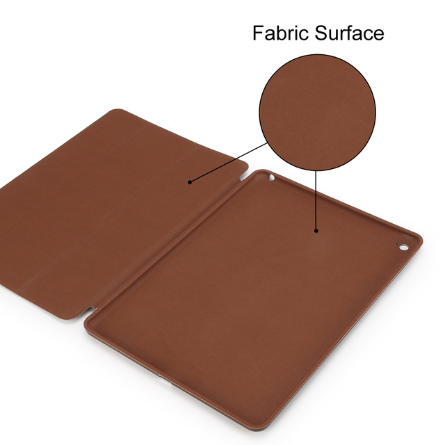 Smart PU Leather Flip Case for iPad Air 2 Model A1566/67 plus 3 Free Gifts