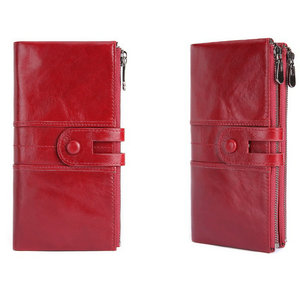 Image 2 - Genodern rfid 本革女性財布レディークラッチ財布長財布ジッパー財布女性の掛け金マネー電話バッグ