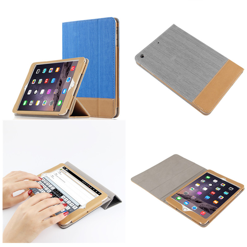 SD Luxury Stitching PU Leather Book Case For iPad Air 1 Auto Wake-up Function Smart Cover For iPad Air1 Ipad5 Tablet+Film gift