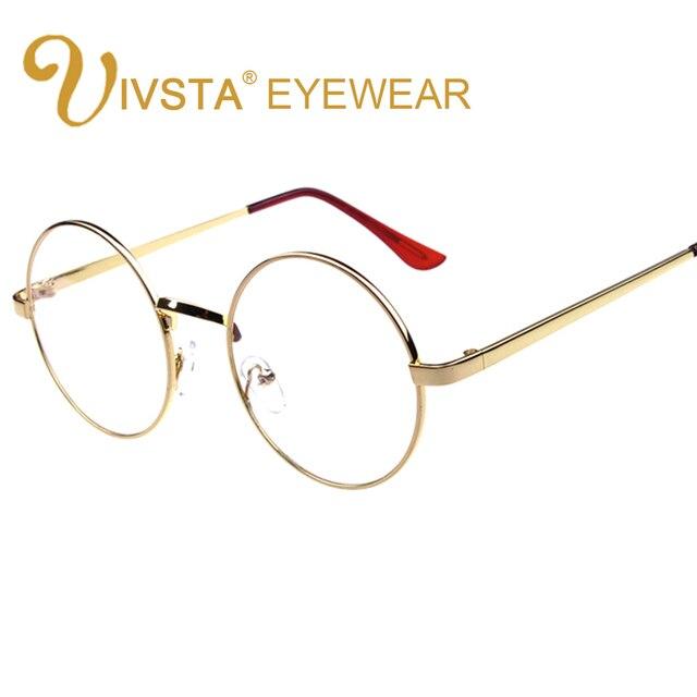 e7b154fadbdb8 IVSTA Harry Potter óculos Espetáculo Moldura Redonda Mulheres Optical  Limpar Lense ouro Do metal Do Vintage
