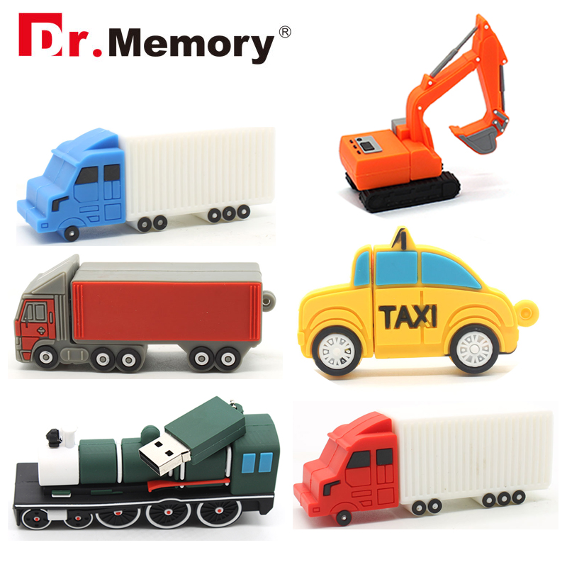 Creative Car USB Flash Drives Truck Taxi Train Pendrive 32GB Full Capacity 4GB 8GB 16GB Memory Stick Pen Drive Personalized Gift