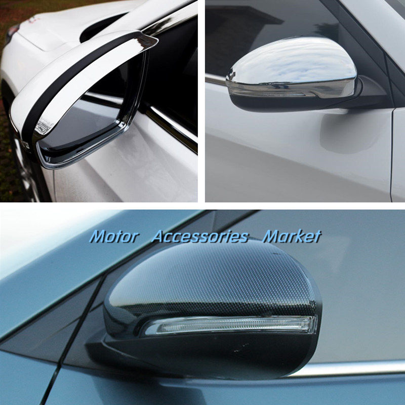 Roof Racks & Boxes Chrome Rearview Mirror Cover Trims For Hyundai Tucson 2016 Travel & Roadway Product