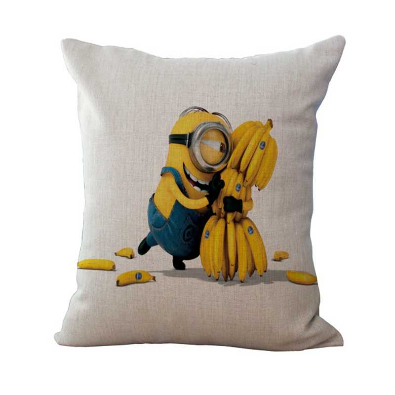 Square 45*45cm Children cushion cartoon print minion bed sofa decorative pillow  home textiles fundas para cojines XA25