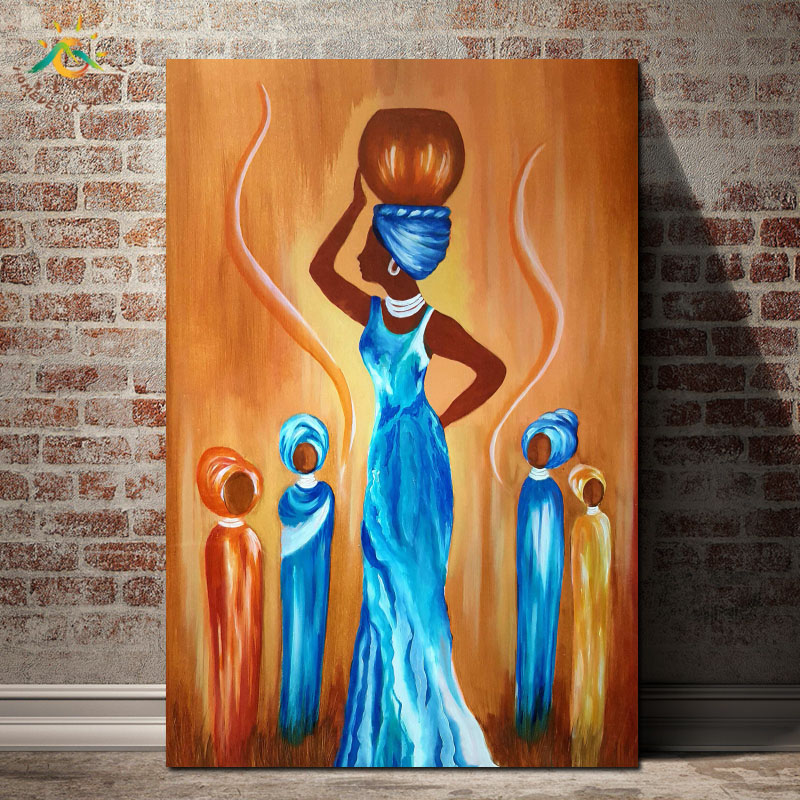 Tradition African Woman Wall Picture – Poster Only