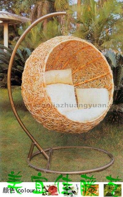 Indoor And Outdoor Furniture Kits Circular Gondola Hanging Chairs Rocking  Chair Wicker Chair Swing Nest