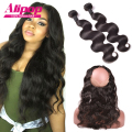 360 Lace Frontal With Bundle Malaysian Virgin Hair With Closure,360 Lace Frontal Closure With Bundles Human Hair With Closure