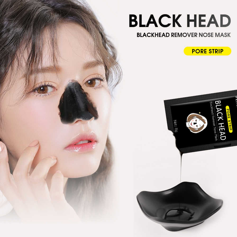 AMEIZII จมูกซ่อมหน้ากาก Blackhead Remover Peel Off ทำความสะอาดลึกสิว Skin Care Purifying Facial Peeling Mask