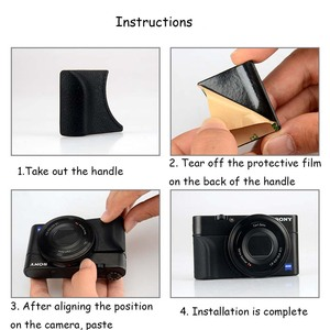 Image 3 - JINSERTA Attachment Grip for Sony RX100M5 RX100M4 RX100M3 Replace As AG R2 with M3 Sticker