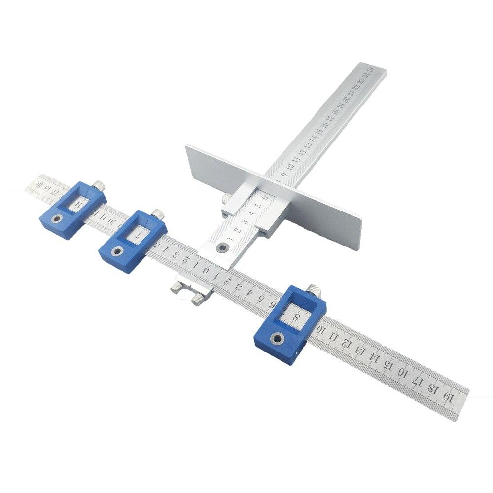 ALLSOME Aluminium Legierung Drill Guide Hülse Schrank Hardware Jig ...
