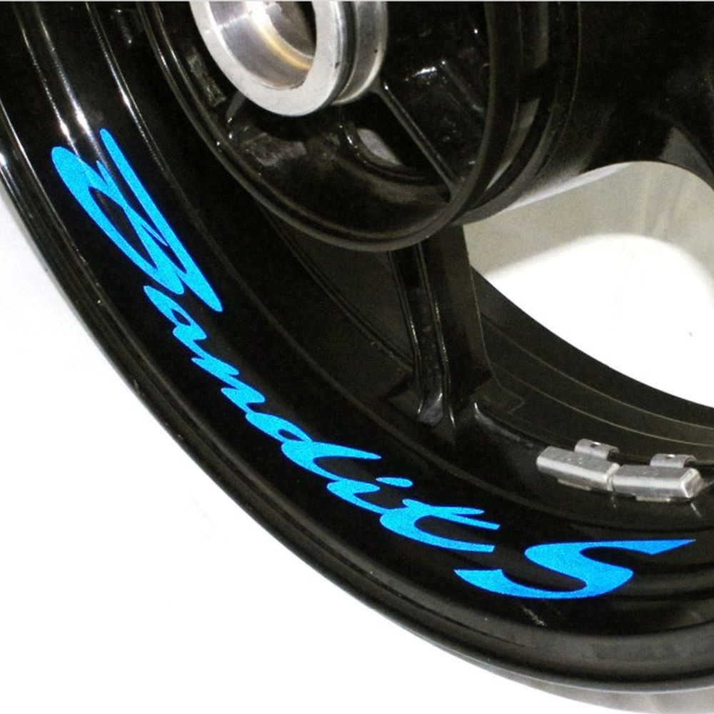 A Set Of 8pcs 8 X CUSTOM INNER RIM DECALS WHEEL Reflective STICKERS STRIPES For SUZUKI BANDIT 1250S BANDIT S ALL