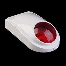 2017 New Wired Alarm Outdoor Waterproof Flash Siren Sound Strobe Flash Alarm Siren For Wifi GSM