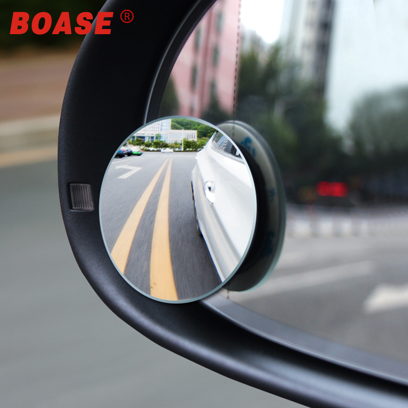 2pcs/lot 360 Degree Car Rearview Mirror High-definition Convex Glass Wide-angle Rear-view Auxiliary Blind Spot Mirror