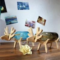 Novelty DIY Deer LED Night Light Christmas Birthday Gift Animal Shape USB Desk Lamp babysbreath table light for children Bedroom