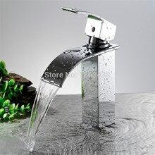 Новый Оптом И В Розницу Палуба Крепление Водопад Ванной Кран Тщеславия Судно Тонет Смесителя Горячей И Холодной Водопроводной Воды