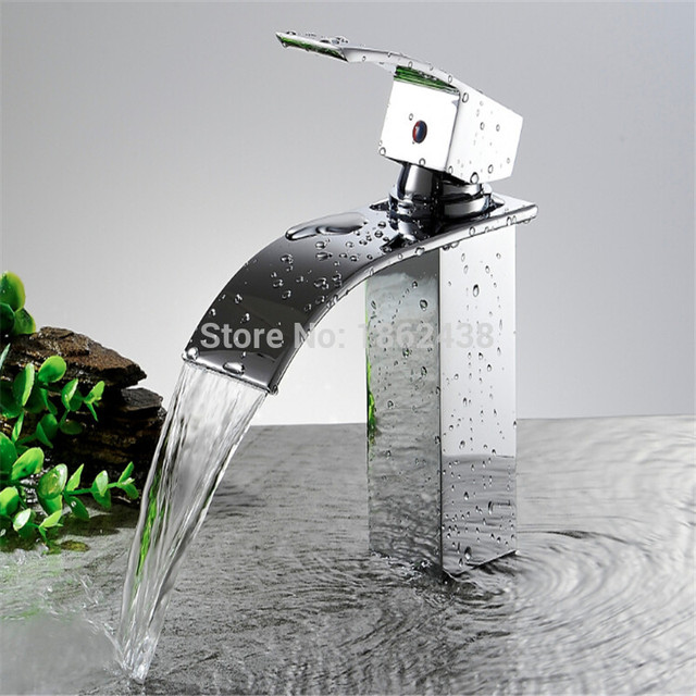 Brand New Wholesale And Retail Deck Mount Waterfall Bathroom Faucet ...