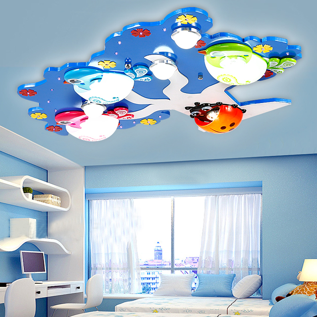 led kinderzimmer led deckenleuchte kreative v gel cartoon schlafzimmer junge und m dchen. Black Bedroom Furniture Sets. Home Design Ideas