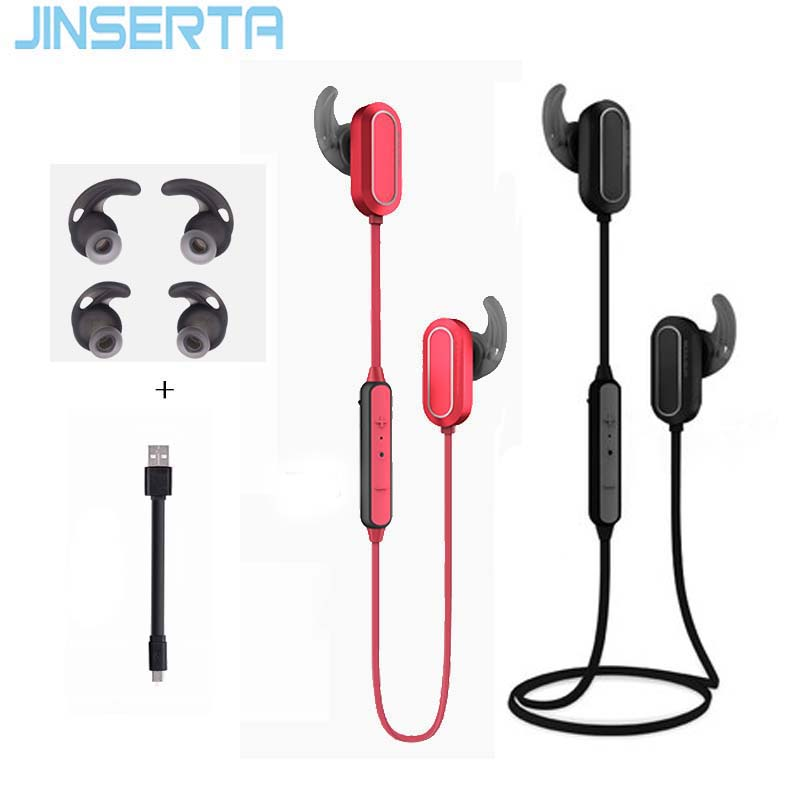 JINSERTA Waterproof Running Ear Headset Stereo Sport Earphone Wireless Bluetooth Headset with Mic for Samsung/Xiaomi/Iphone running bluetooth earphone hands free hbs 902 earphone sport wireless with mic for samsung iphone