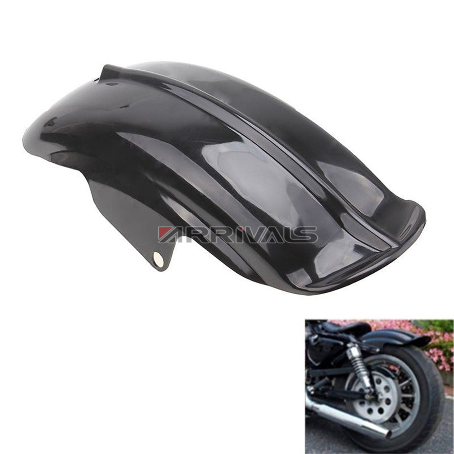 Black Plastic Motorcycle Rear Mudguard Fender for Harley Sportster Solo Bobber Chopper Cafe Racer 883 883R 1200 1994 - 2003