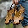Zapatos Sandalias casuales Sandalias Masculinas de Moda de Coser A Mano