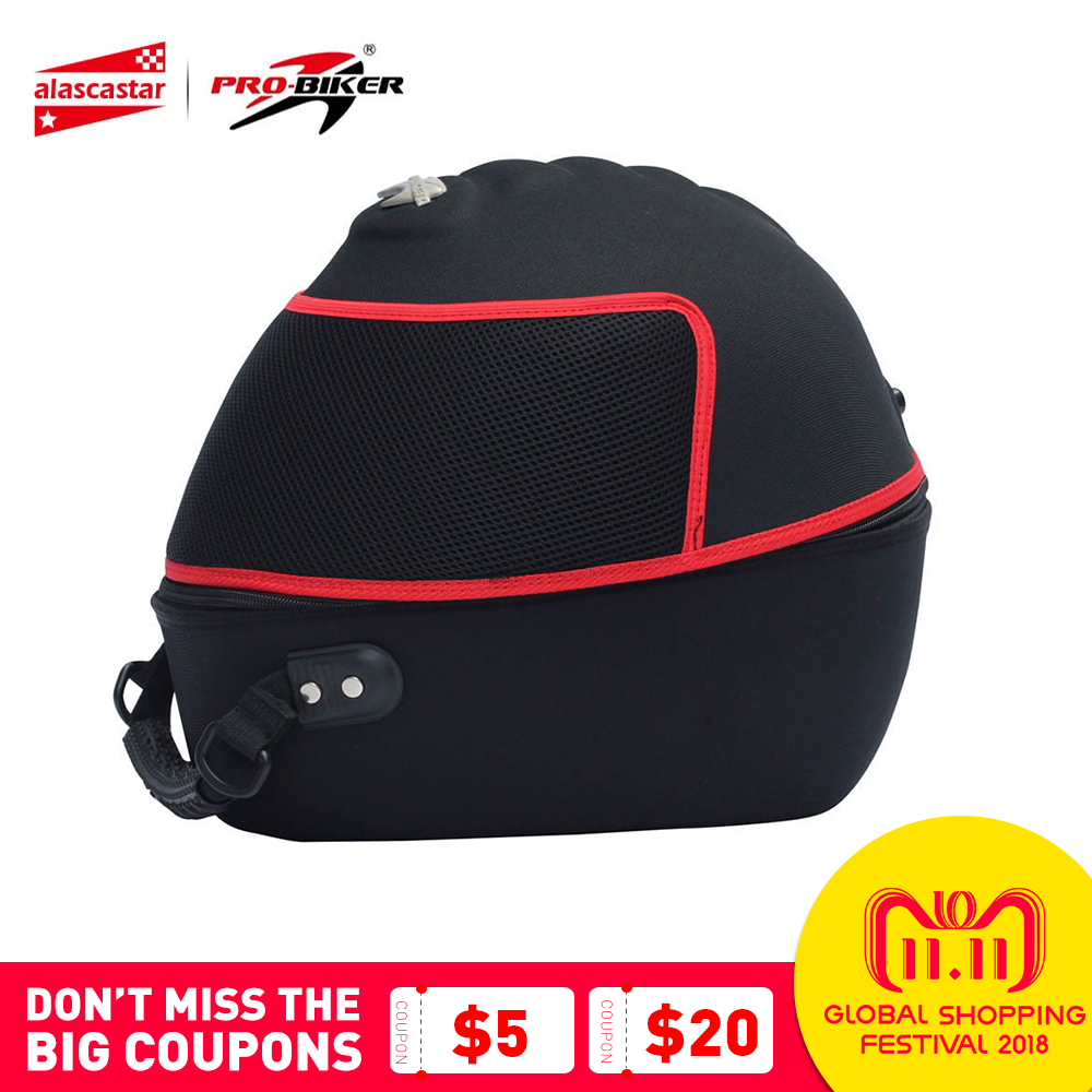 PRO-BIKER Motorcycle Helmet Bag Waterproof Shoulder Bag Motorbike Tool Tail Bag Knight Riding Travel Luggage Case Handbag цена