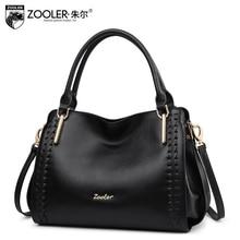 ZOOLER BRAND quality Genuine Leather bag Handbags top handle women bags whole cowhide women messenger bag 2017 new#1119