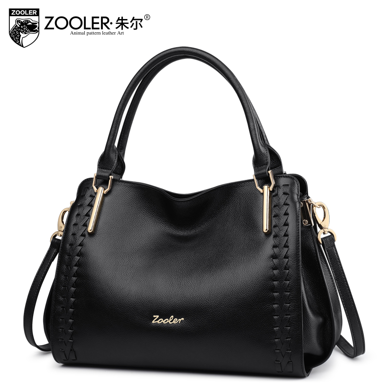 ZOOLER BRAND quality Genuine Leather bag women leather handbag top handle for women cowhide shoulder messenger bag 2017#1119 new product sales zooler brand zipper cowhide bag top handle shoulder bag simply solid genuine leather bag women bag bolsas c108
