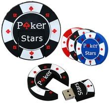 Flash usb U disk mini pen drive 4GB 8GB 16GB 32GB 64GB cartoon rubber Poker Stars