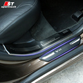 Car Styling Door Sills For Volvo Welcome Enter Pedal Stainless Steel Scuff Plates Trim Strip For Volvo XC60 S60L 2014 -2016
