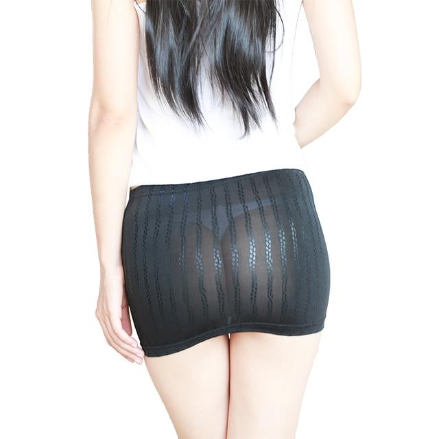 b0ec7ff3410 Nouveau Sexy femmes voir à travers MINI jupe crayon serré jupe mignonne  Micro Mini Transparent boîte