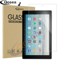 Qosea For Amazon Fire HD 10 2017 Screen Protector 9H For Amazon Fire HD 10 Tempered