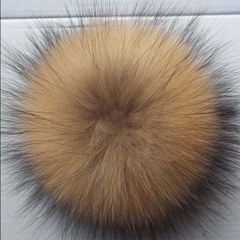 15 cm Big 100% Reale Pelliccia di Procione Pon Pon Palla di Pelo per donne  Cappelli Invernali Berretti Raccoon Naturale Palla di Pelo per la Catena  Chiave ... 6bf1152fa7a3
