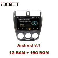 IDOICT Android 8,1 автомобильный DVD плеер gps навигация Мультимедиа для Honda CITY радио 2008 2013 автомобильный стерео