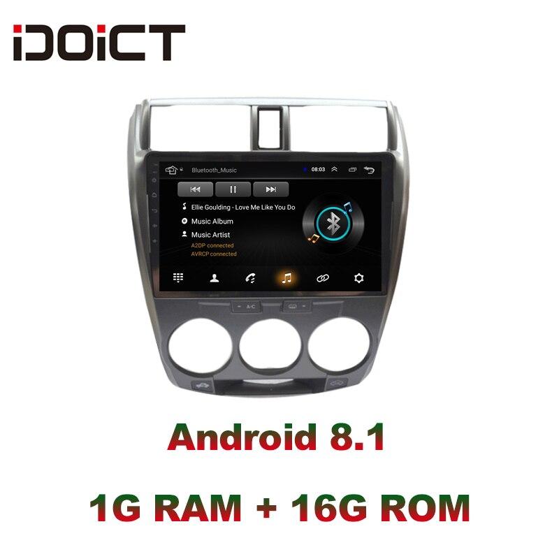 IDOICT Android 8,1 dvd плеер автомобиля gps навигации мультимедиа для Honda CITY радио 2008 2013 стерео