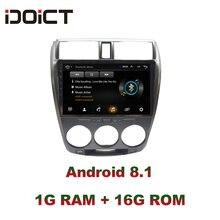IDOICT Android 8.1 Auto Lettore DVD GPS di Navigazione Multimediale Per Honda CITY Radio 2008-2013 car stereo