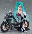 Japão Anime Figurinhas Figma Hatsune Miku/Motocicleta PVC Figuras de Ação Colecionáveis Brinquedos Crianças Boneca de Brinquedo 19 cm